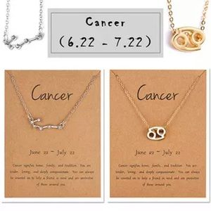Cancer Zodiac Sign and Constellation Necklace Duo